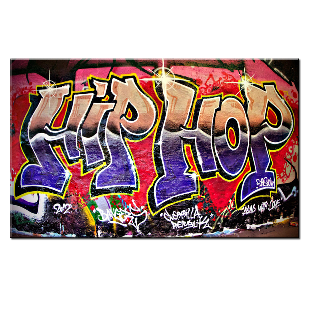 Xdr951 graffiti street art hip hop canvas wall art prints poster for studyroom and bedroom in painting calligraphy from home garden on aliexpress com