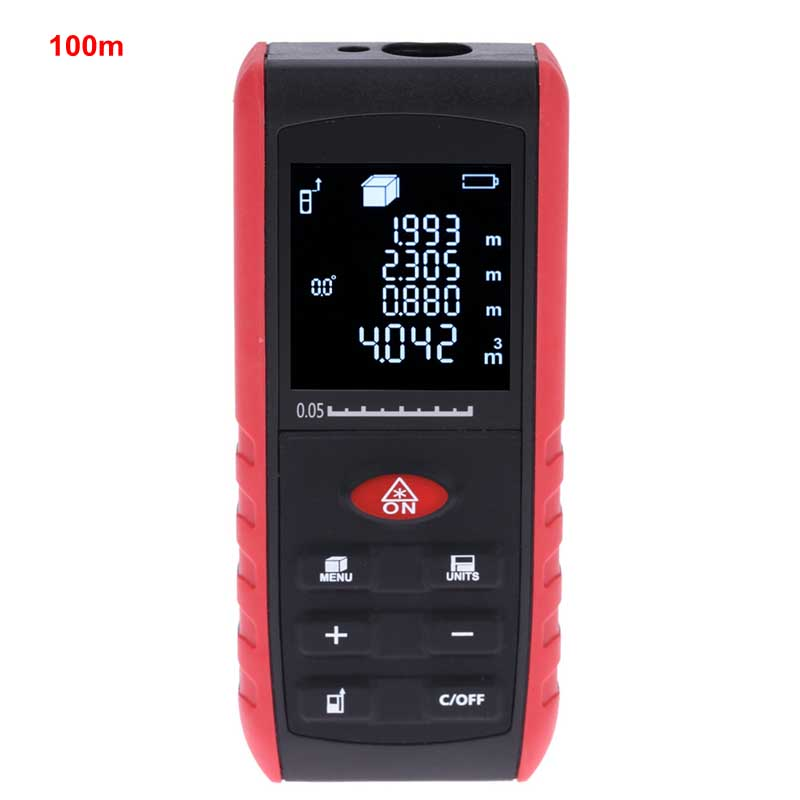100m Digital Laser Distance Meter Laser Rangefinder +/-2mm Accuracy Digital Leveling with Protractor Range Finder Function thyssen parts leveling sensor yg 39g1k door zone switch leveling photoelectric sensors