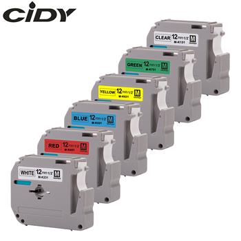 Kompatybilny z CIDY brother M-K231 MK231 MK 231 MK-231 czarny na białym 12mm laminowany mocny klej taśmy etykietowe do PT-80 PT-70 tanie i dobre opinie 110*80 Label Printer Inny rodzaj Wstążki drukarki