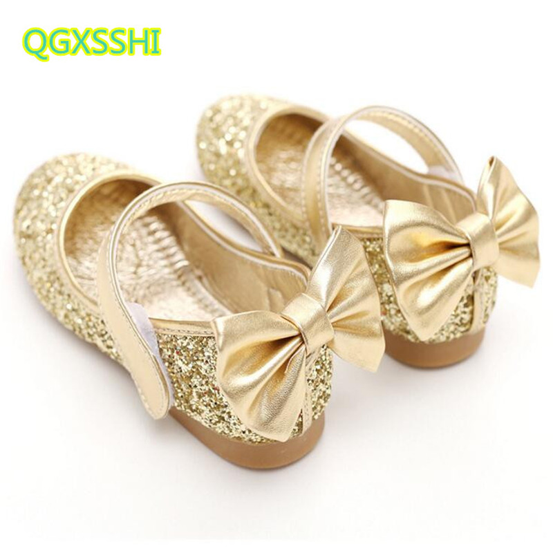 QGXSSHI Girls dance shoes bow cute wild round flat childrens shoes exquisite breathable comfortable student Performance shoes
