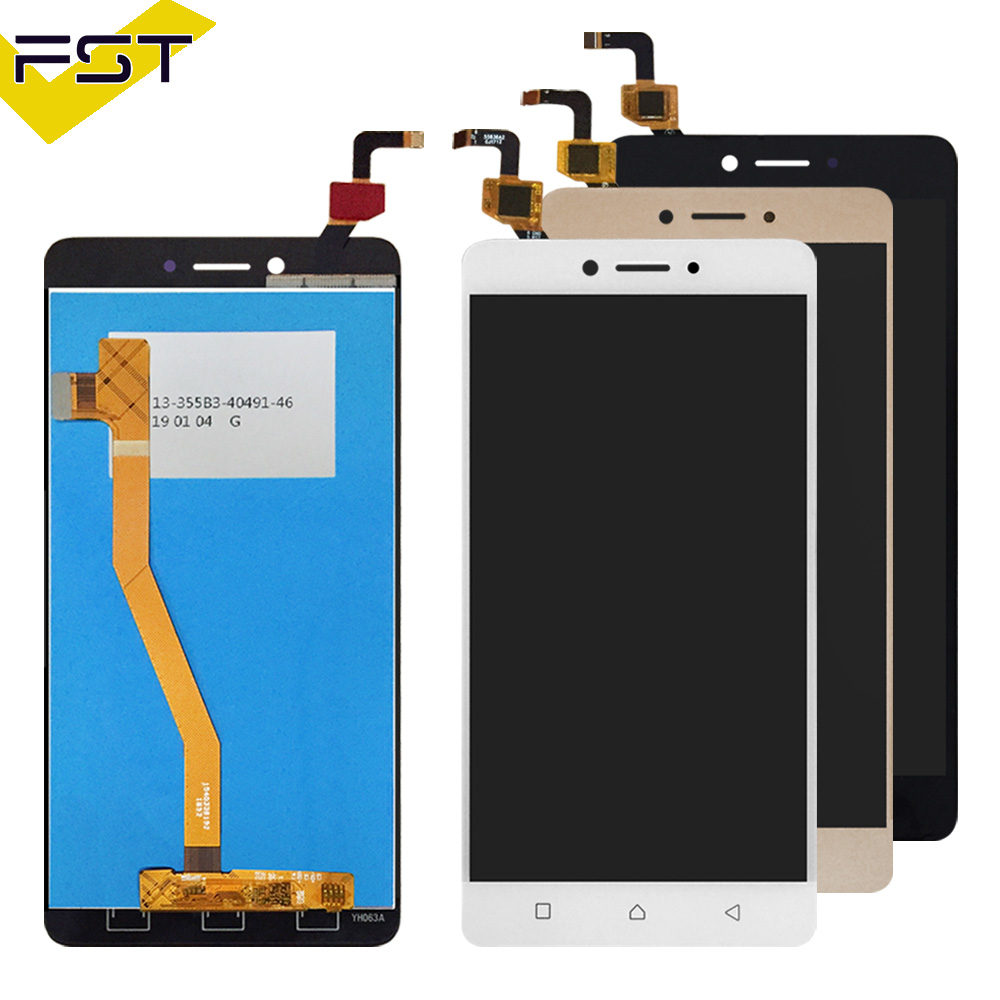 Black/White/Gold 100% New Touch Screen Digitizer Glass + LCD Display Assembly For Lenovo K6 Note K53a48 LCD Glass Panel SensorBlack/White/Gold 100% New Touch Screen Digitizer Glass + LCD Display Assembly For Lenovo K6 Note K53a48 LCD Glass Panel Sensor