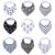 9 pcs um lote arrotar marca Seta animal dos desenhos animados do bebê babadores saliva toalha burp cloths triângulo cotton bandana acessórios