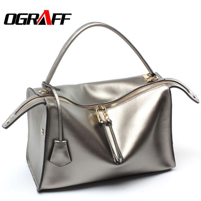 OGRAFF Genuine leather bag luxury handbags women bag designer 2017 high  quality brand fashion women messenger 6db7d3f2ccef4