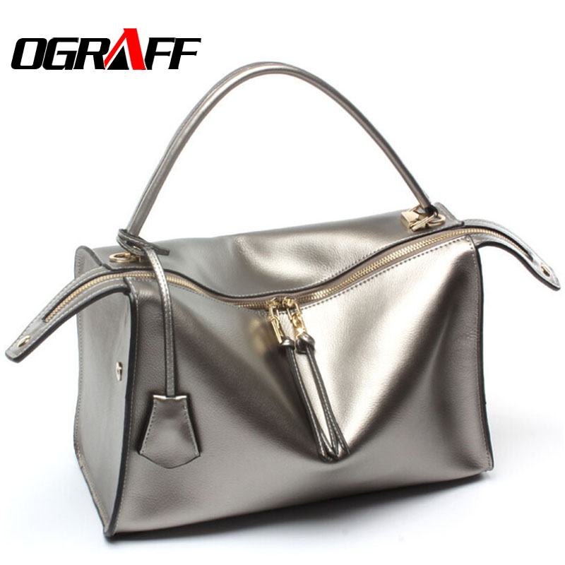 OGRAFF Genuine leather bag luxury handbags women bag designer 2017 high quality brand fashion women messenger bag tote bag