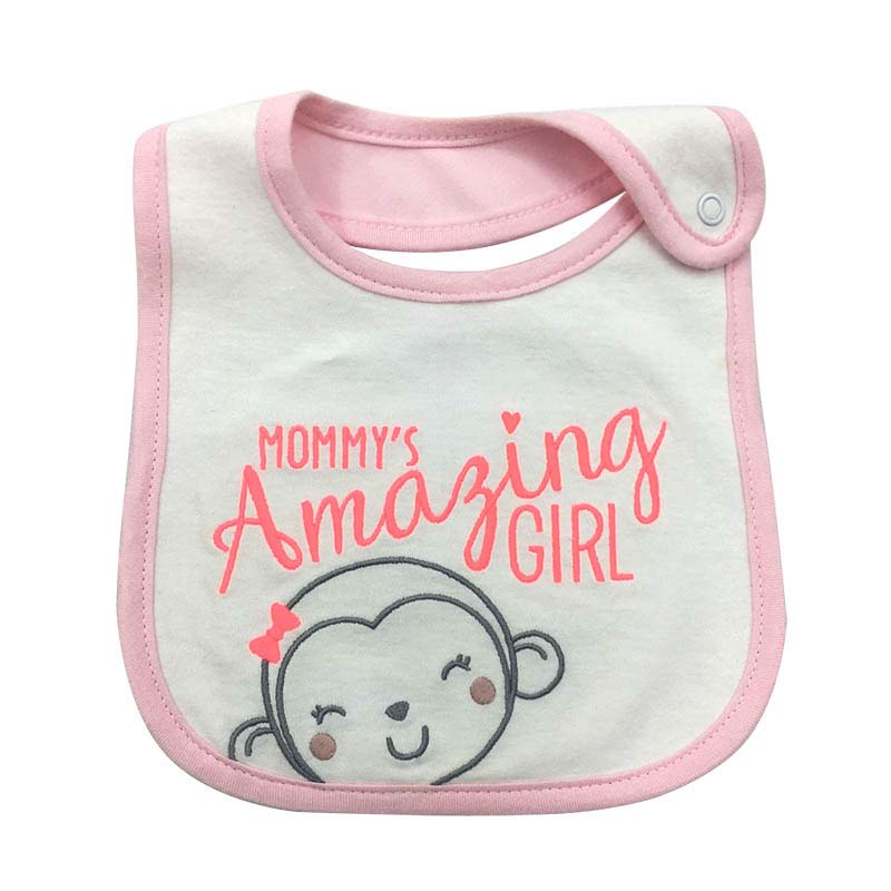 Feeding Sweet-Tempered Toddler Infant Baby Kids Waterproof Cotton Bibs Bundle Lunch Bibs Animals Towel