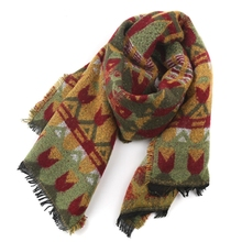 6 Colors Fashion Wool Women Cozy Tartan Scarf