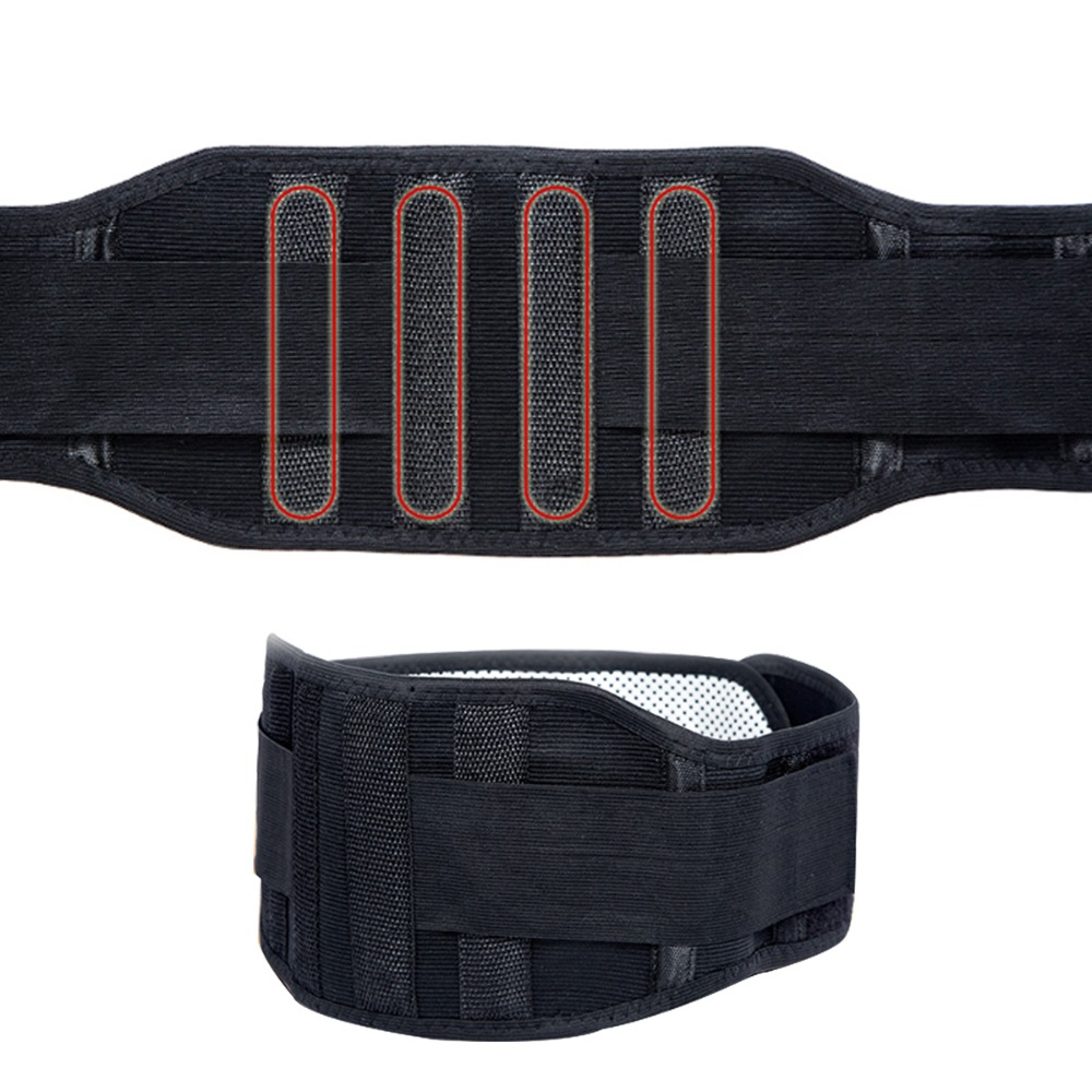 Adjustable Tourmaline Self heating Magnetic Therapy Waist Support Belt Lumbar Back Waist Brace Double Band Health Care