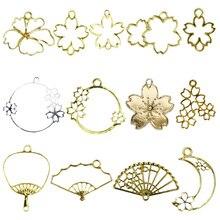 5pcs/lot flowers princessshapeResin OpenBezelMetalCharm Pendant Key Frame UV Resin Earring Findings DIY resin craft