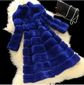 2015 New Rabbit Fur Woman Fur coat Medium Collar Slim Overcoat Fall winter New Products Coat JSH143