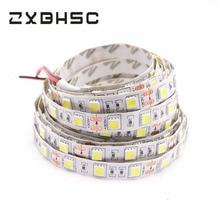 Светодиодная лента 5050 DC12V 60 светодиодный s/m 5 м/лот гибкий светодиодный светильник белый теплый белый 5050 Светодиодная лента