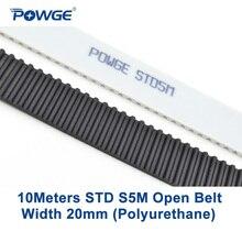 POWGE 10 метров Arc PU STD STS S5M открытых зубчатых пояса S5M-20mm Ширина 20 мм полиуретан стали 20STD5M синхронный шкив CNC