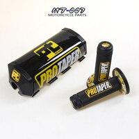 MX Dirtbike CrossBlack PT Square2.0 Taper Fat Bar Preto Capa de Almofada + Aperto Apertos de Guiador Colorido para 1-1/8