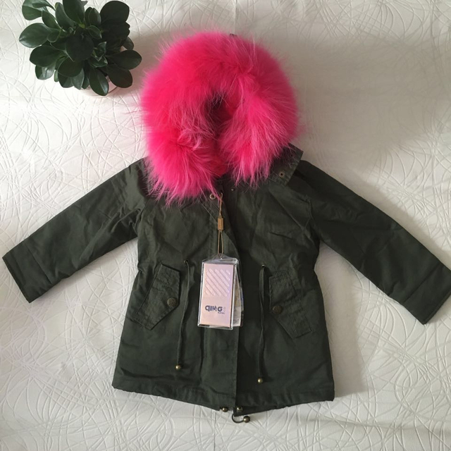 Girls jackets and coats New 2016 Arrival Fashion Thick Warm fur hooded Parka Down baby clothes children's clothes clothing