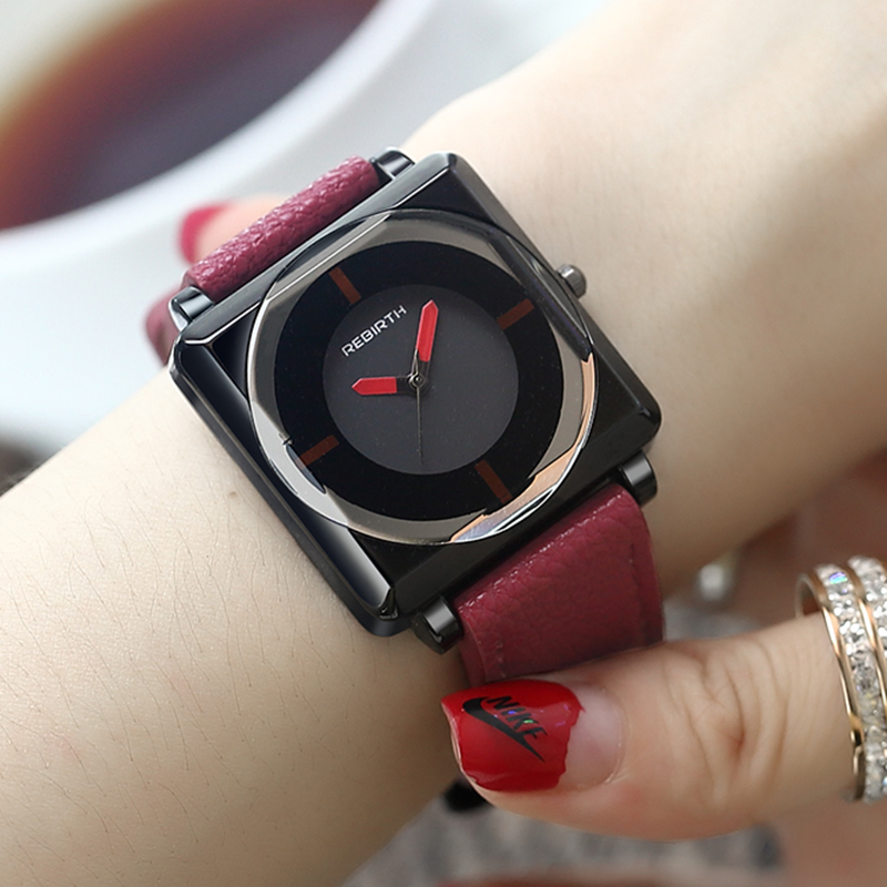 REBIRTH 2019 Women's Watch Square Fashion Watch Women Business Ladies Watches For Women Fashion Simple Bracelet Bayan Kol Saati