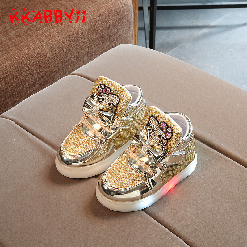 Children-Light-Up-Sneakers-Cartoon-Kitty-New-Autumn-Kids-LED-Luminous-Shoes-for-Girls-Colorful-Flashing-Lights-Sneakers-3