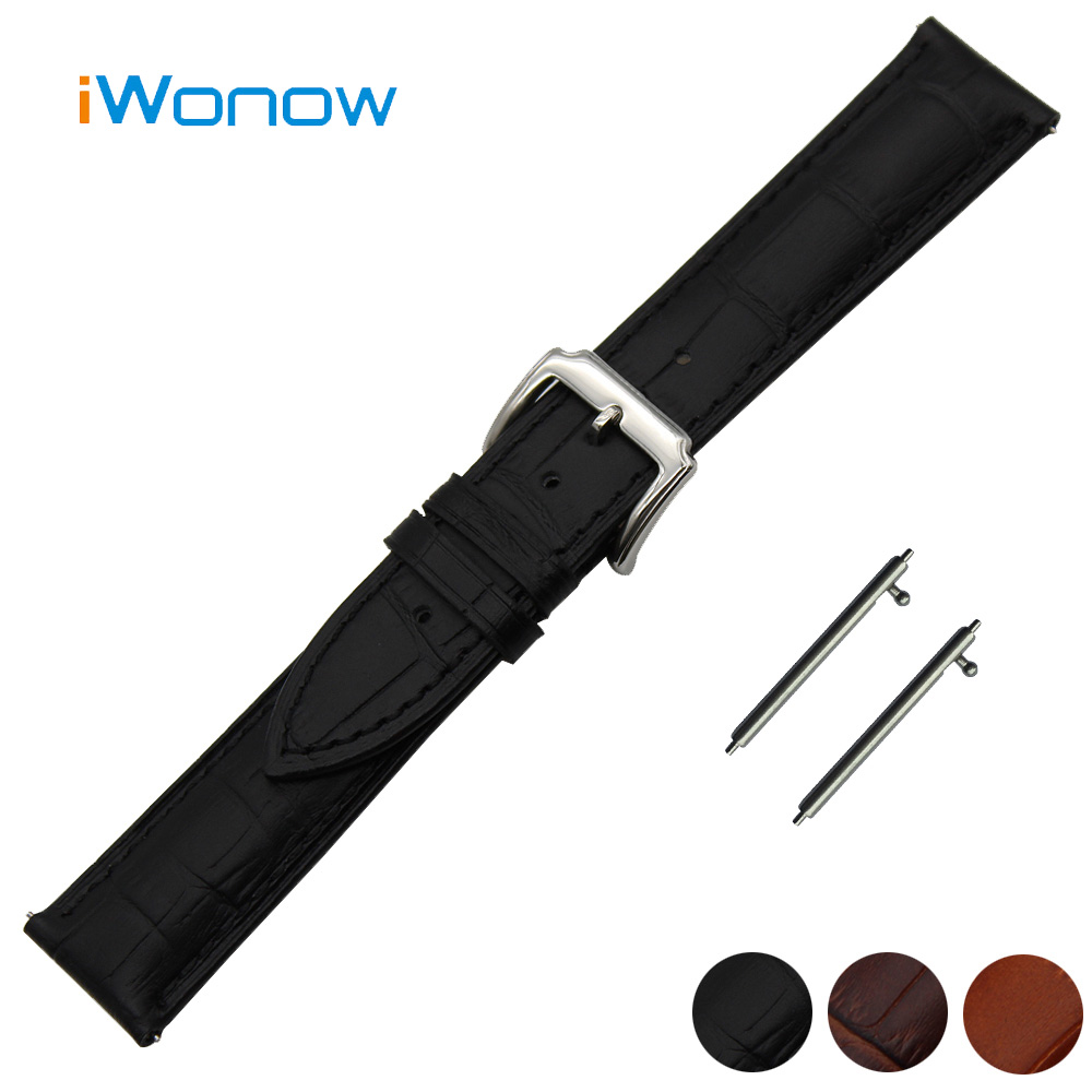 Genuine Leather Watch Band 18mm 20mm 22mm for Timex Weekender Expedition Quick Release Strap Wrist Belt Bracelet Black Brown 18mm first layer genuine leather watch band quick release strap for asus zenwatch 2 women wi502q wrist belt bracelet black brown