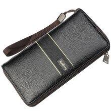 Beallerry Big Capacity Men Wallets PU Leather Card Holder Phone Pocket Long  Wallet Male Zipper Clutch 6f80f3e274d62