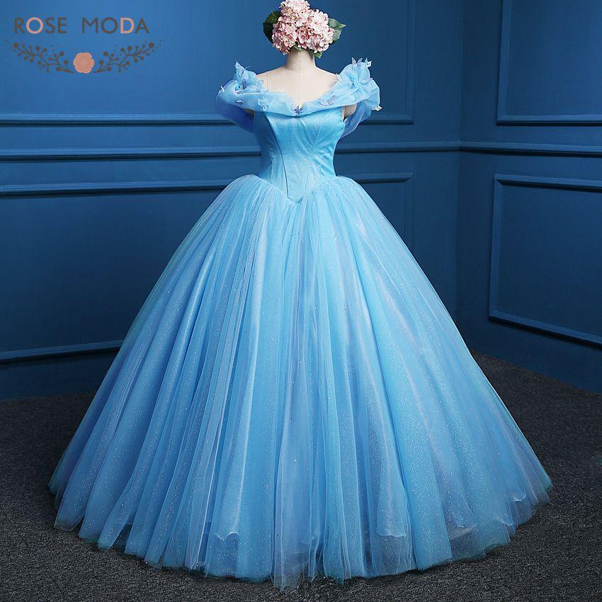 Aliexpress.com : Buy Blue Cinderella Prom Dress Movie ...