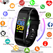 LIGE 2019 New Bluetooth Bracelet fitness Smart Watch Men women Heart Rate Motion Tracker Intelligent Sport