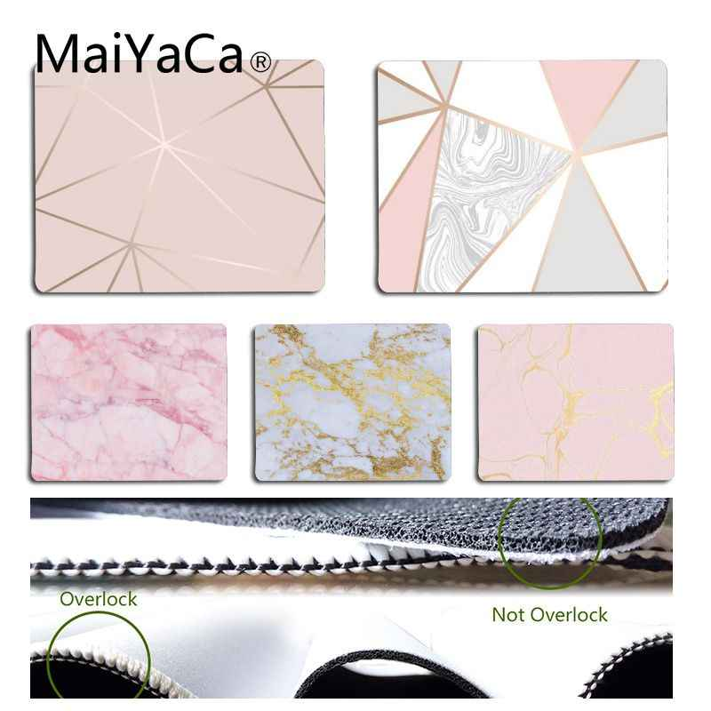 MaiYaCa New Design Cool Rose Gold Marble Keyboard Mat DIY Design Pattern Game mousepad Size for 18x22cm 25x29cm Rubber Mousemats