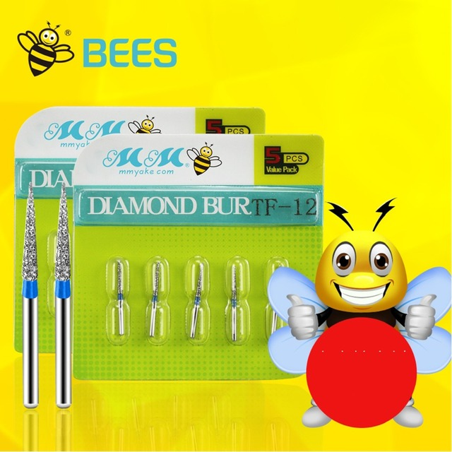 100 PCS/20boxes High Speed Diamond Burs Dental Materials Excellent Quality Bees Brand