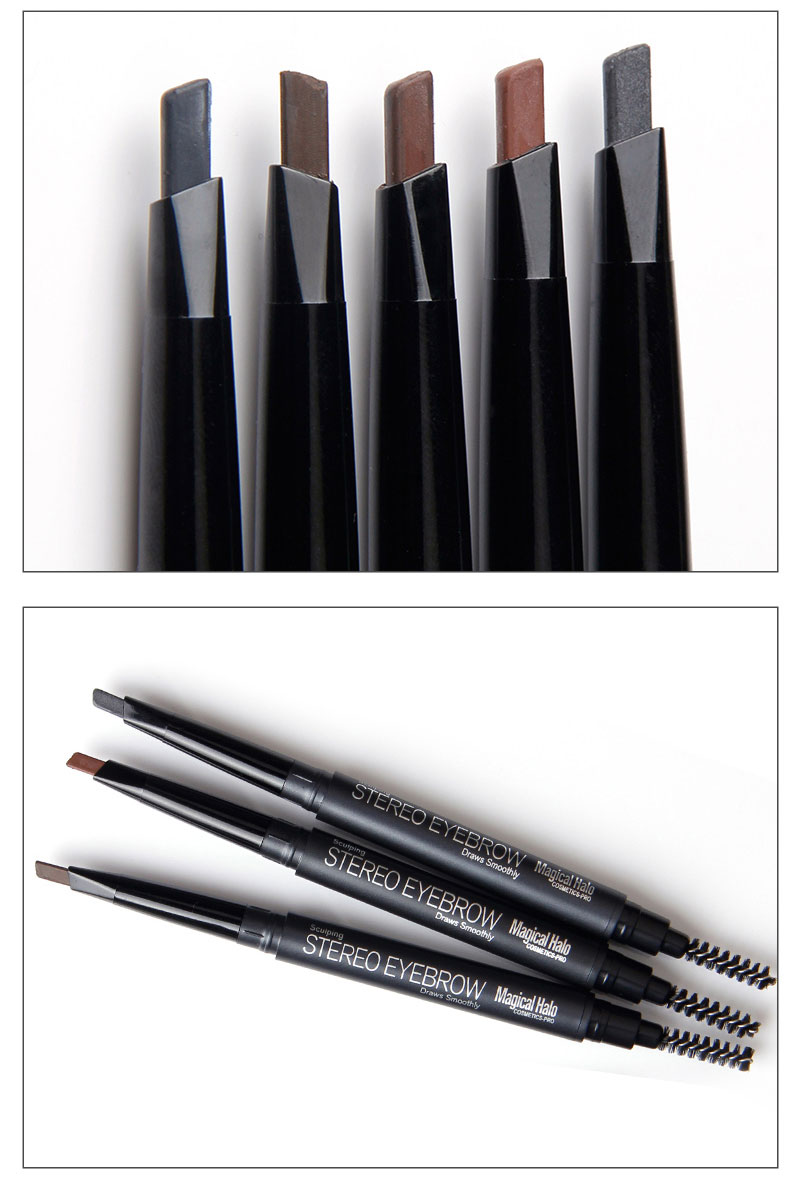 Magica Halo Automatic Eyebrow Pencil Paint for Eyebrow Shadow with Brushes Professional Black Grey Waterproof Eyebrow Pencil 8