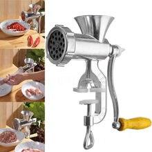 Instrukcja maszynka do mielenia mięsa maszynka do mielenia mięsa urządzenie do produkcji makaronu ręczna maszyna do kiełbasy wołowej kuchnia ze stopu aluminium
