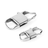 22/26/32MM Long Wholesale 50/100pcs Stainless Steel Square Lobster Buckle End Clasps Chains Connector Fashion DIY Jewelry Making