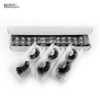 30 pares de pestañas SHIDISHANGPIN, pestañas largas naturales 3d de visón, pestañas falsas al por mayor, maquillaje, pestañas de visón, extensiones de pestañas