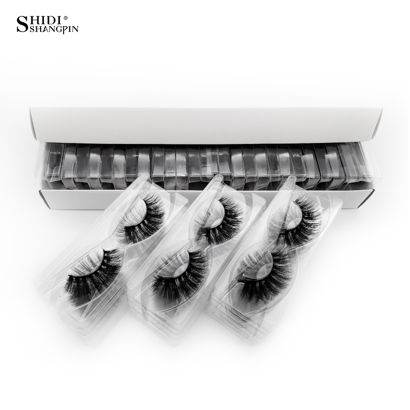 SHIDISHANGPIN 30 Pairs Eyelashes Natural Long 3d Mink Lashes Wholesale False Eyelashes Makeup Mink Eyelashes Eyelash Extensions