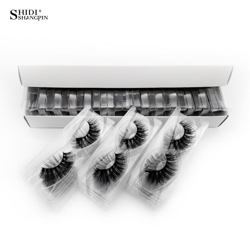 SHIDISHANGPIN 30 Pairs Eyelashes Natural Long 3d Mink Lashes Wholesale False Eyelashes Makeup Mink Eyelashes Eyelash Extensions