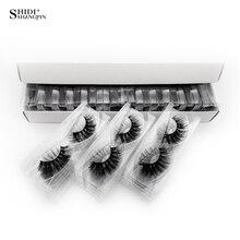 Shidhangpin 30 пар ресниц натуральные длинные 3d норковые ресницы оптом Накладные ресницы макияж норковые ресницы наращивание ресниц