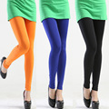 The new spring and summer 2016 high elastic silk nine Leggings candy colors slim Stretch Leggings wholesale ladies