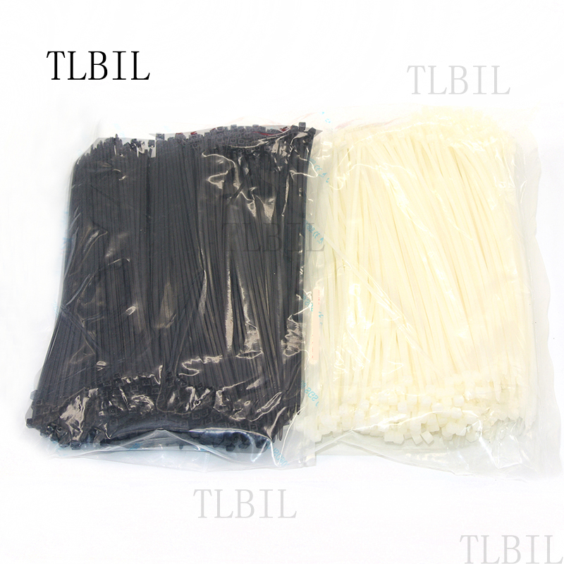 """Zip Cable Ties 8/"""" 40lbs 1000pc UV Black Made in USA Nylon Wire Tie Wraps"""