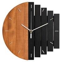 Relógio de parede de madeira design moderno do vintage rústico gasto relógio de arte tranquila decoração para casa