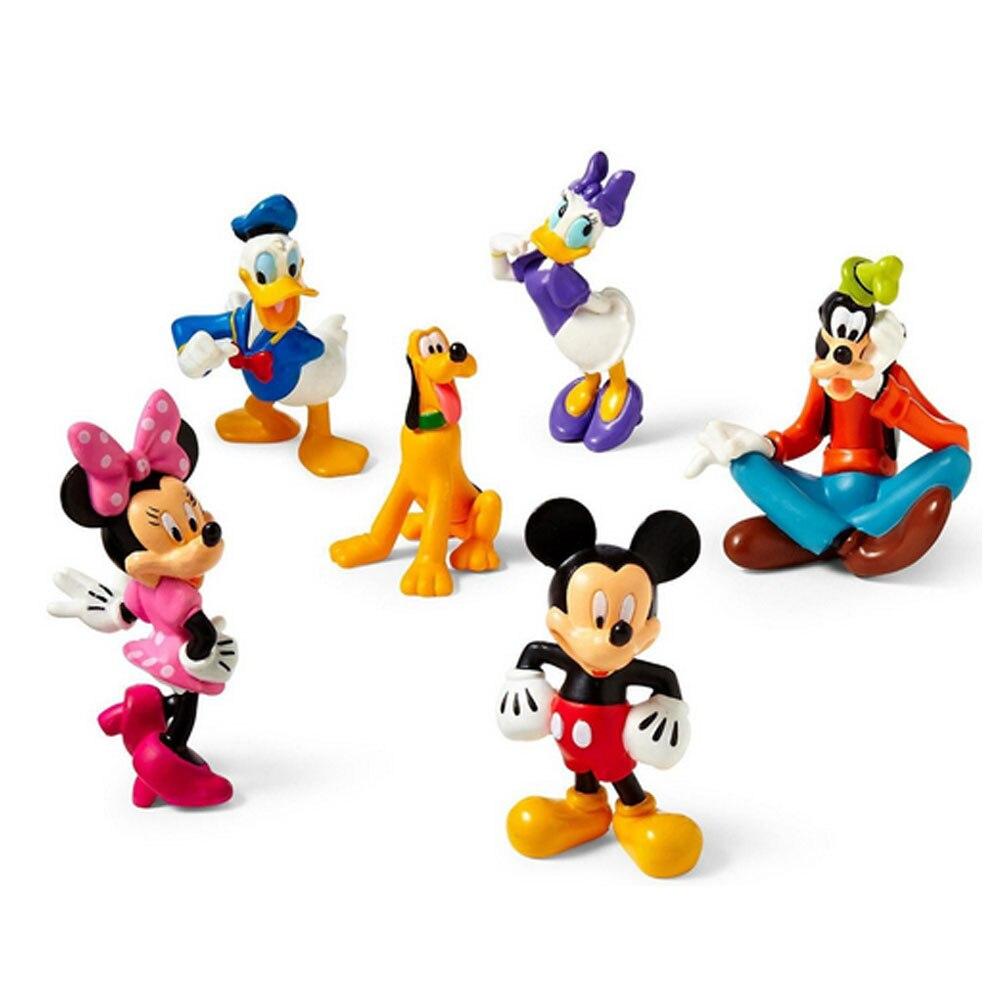 6pcs set Minnie clubhouse anime figurine set font b figures b font classic toys baby PVC