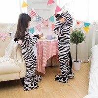 Zebra Pyjama Kinderen Kids Jongens Meisjes Pyjama Man Animal Pyjama Flanel Pyjama Winter Cartoon Animal Rompertjes Chrismas Pyjama