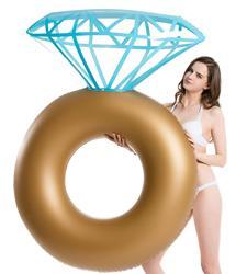 Надувное бриллиантовое кольцо для бассейна с поплавком-обручальное кольцо для девичника вечерние трубки для плавания Floaty Lounge для взрослых ...