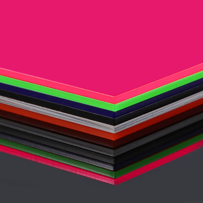 15×15cm Plexiglass Board Colored Acrylic Sheet DIY Toy Accessories Model Making Qiang