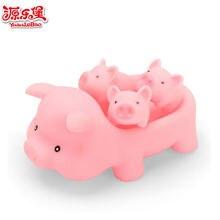 4 шт/лот розовая Милая свинка детская игрушка для ванной сжимаемая