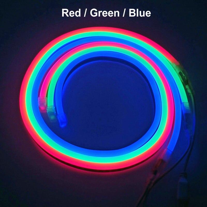 Л/ч, 15 м, 20m25m водонепроницаемый AC220V светодиодный неоновый свет 2835 гибкий + Мощность штепсельной вилки напольная декоративная полоска