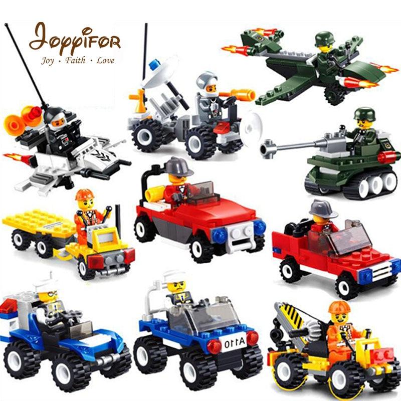 Toys & Hobbies Figurines Generous City Plane Car Model Kits Compatible With Legoinglys 3d Building Blocks Figures Educational Toys Hobbies For Children