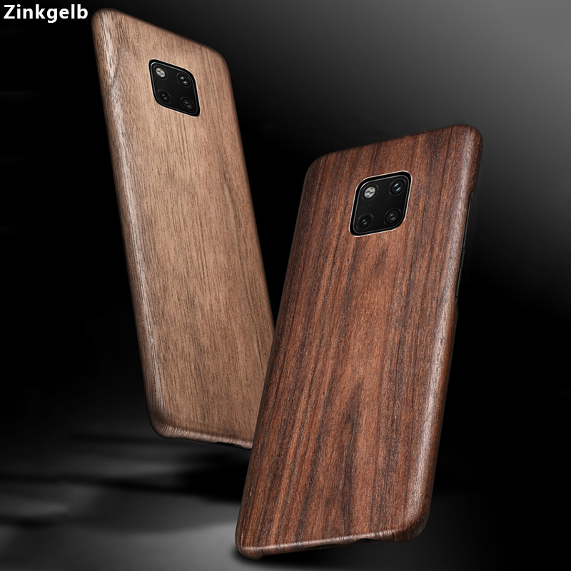 For Huawei Mate 20 Pro Case Cover Luxury Cute Slim Hard Natural Wood Protection Armor Phone Case for Huawei Mate 20 Back Cover wood