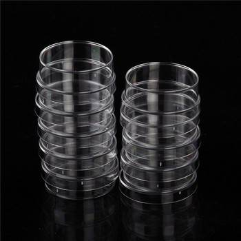JETTING Lab Supplies 10 sztuk praktyczne sterylne płytki petriego z pokrywkami do płyty laboratoryjnej bakteryjne drożdże Instrument chemiczny zaopatrzenie laboratorium tanie i dobre opinie KOQZM CA-SH-BI-131