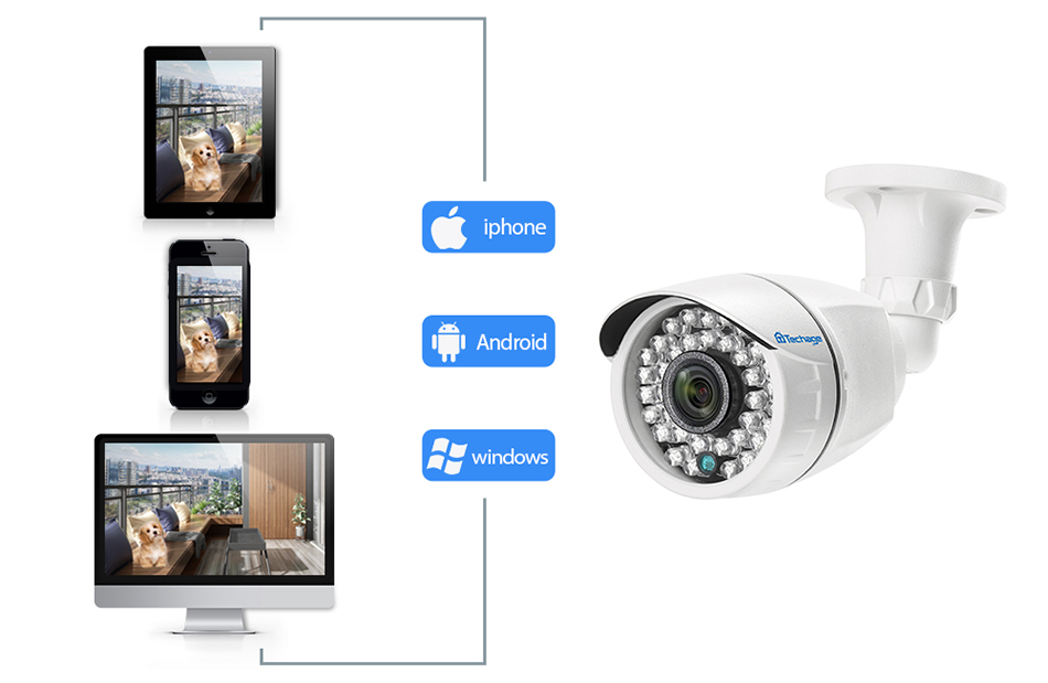 8CH 1080P CCTV Security System Camera With DVR Kit With IP66 Waterproof And  APP Alert