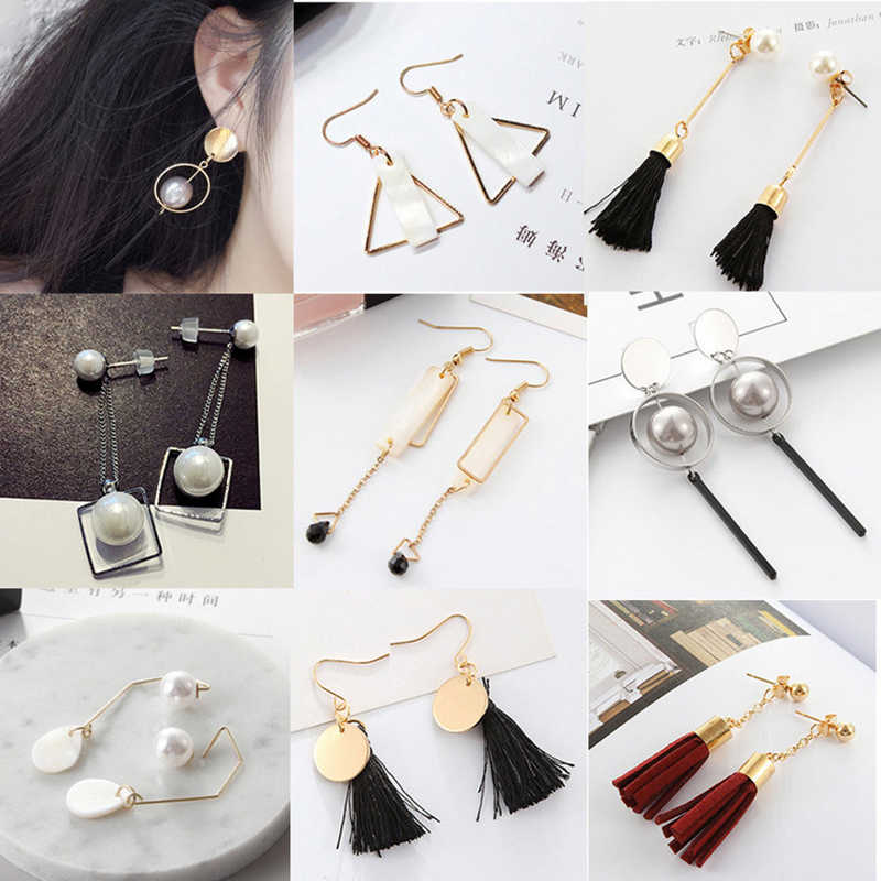 YOBEST Brand Design Fashion Square Triangle Round Geometric Faux Stone Drop Earring Women Party Jewelry pendientes brincos