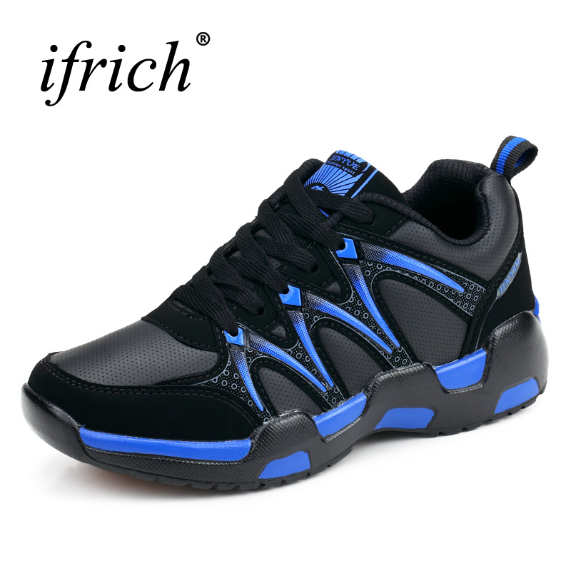 2017 New Autumn Winter Walking Running Shoes for Men Black Red Running Sneakers Leather Warm Sport Trainers Mens Jogging Shoes