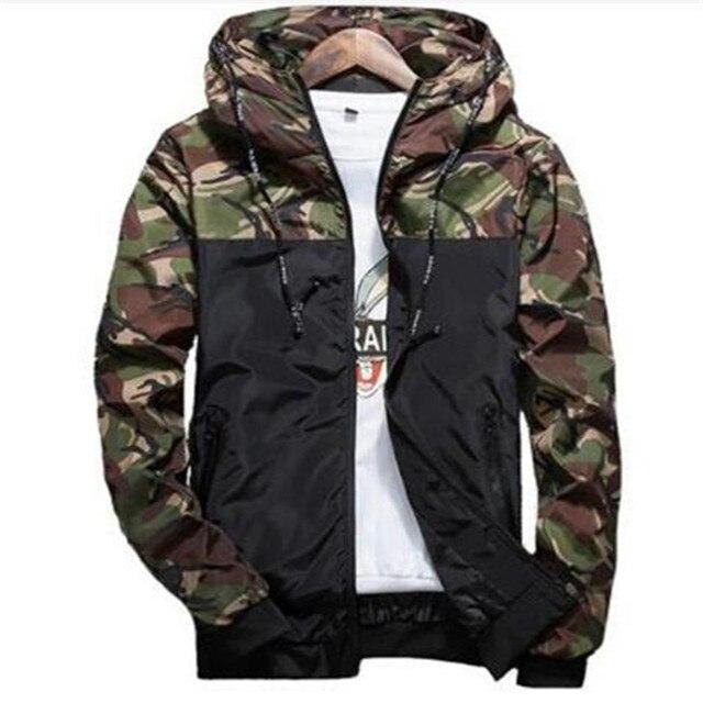 Весна осень Мужская Повседневная камуфляжная куртка с капюшоном мужская  водостойкая одежда Мужская ветровка пальто мужская верхняя 0b28391d6c2