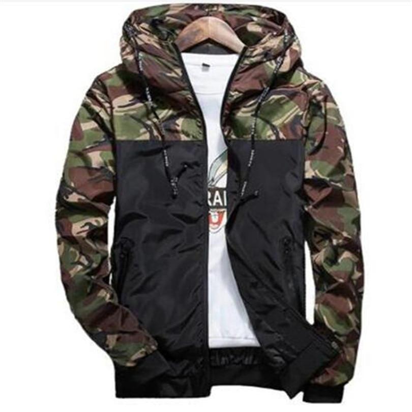 Spring Autumn Mens Casual Camouflage Hoodie Jacket Men Waterproof Clothes Men s Windbreaker Coat Male Outwear Innrech Market.com