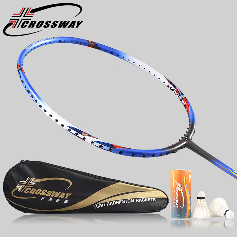 CROSSWAY 1PC 3U professional badminton racket Lightweight Training Sport Equipment Durable Speed raquete adulto fitness matchT50